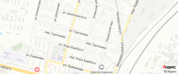 Киевский переулок на карте Брянска с номерами домов