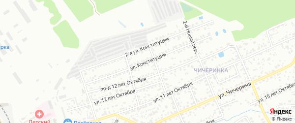 Улица Конституции на карте Брянска с номерами домов
