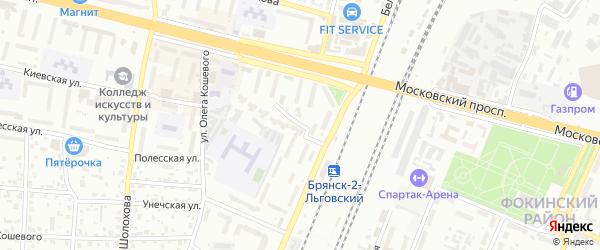 Переулок Литвинова на карте Брянска с номерами домов