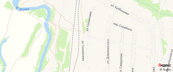 Улица Головачева на карте Фокино с номерами домов