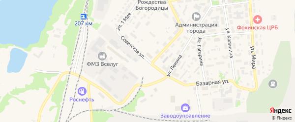 Советская улица на карте Фокино с номерами домов
