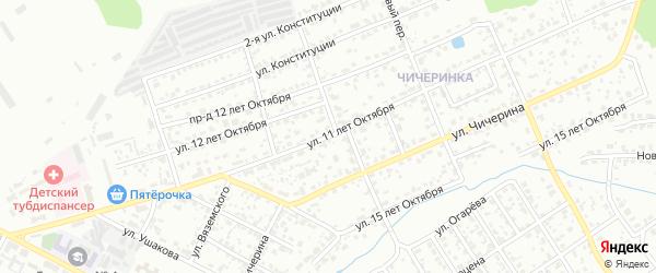 Улица 11 лет Октября на карте Брянска с номерами домов