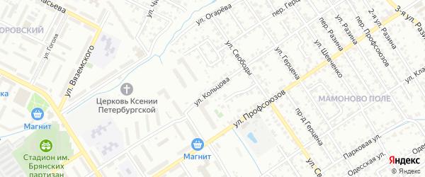 Улица Кольцова на карте Брянска с номерами домов