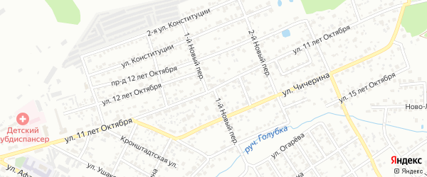 1-й Новый переулок на карте Брянска с номерами домов