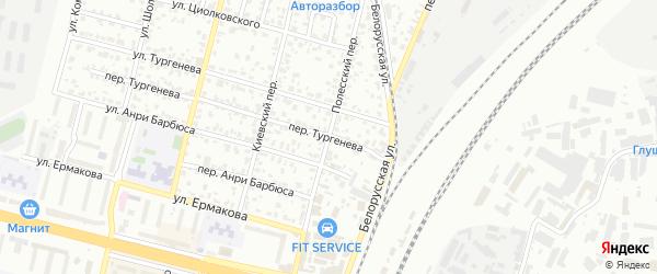 Полесский переулок на карте Брянска с номерами домов