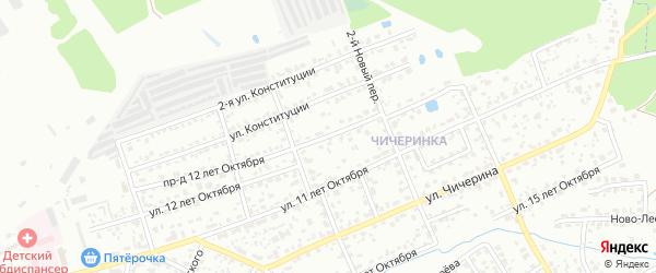 Улица 12 лет Октября на карте Брянска с номерами домов