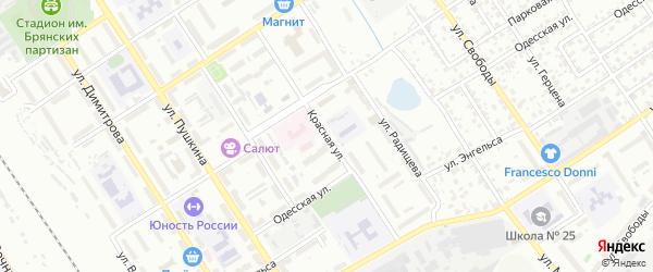 Красная улица на карте Брянска с номерами домов