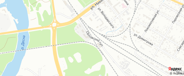 Орловский тупик на карте Брянска с номерами домов