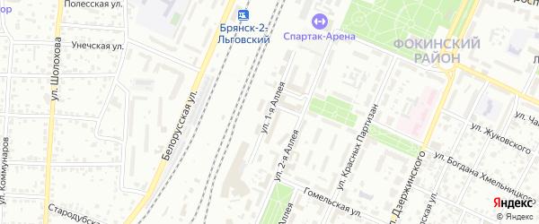 Улица 1-я Аллея на карте Брянска с номерами домов