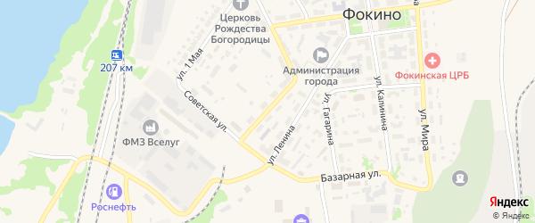 Улица Островского на карте Фокино с номерами домов