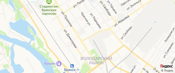Территория ГО N3 по ул Абашева на карте Брянска с номерами домов