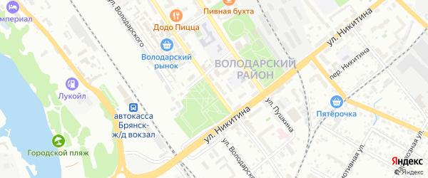 Улица Димитрова на карте поселка Белые Берега с номерами домов
