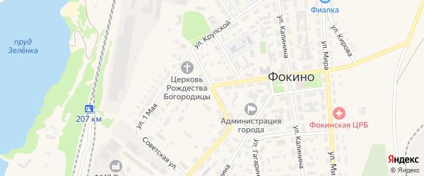 Улица Луначарского на карте Фокино с номерами домов
