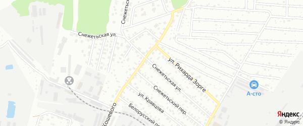 Снежетьская улица на карте Брянска с номерами домов