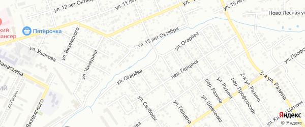 Улица Огарева на карте Брянска с номерами домов