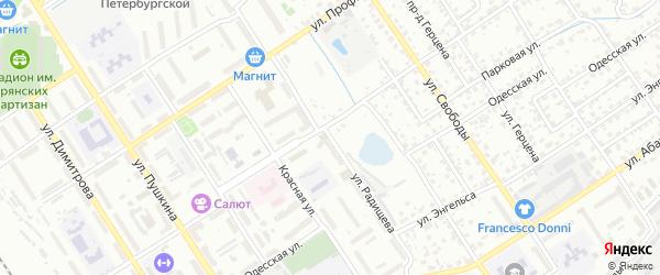 Улица Радищева на карте Брянска с номерами домов