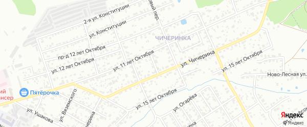 Лучевой переулок на карте Брянска с номерами домов