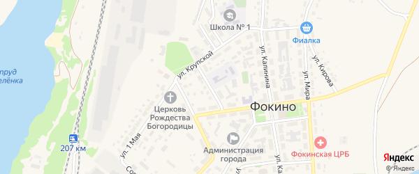 Улица Димитрова на карте Фокино с номерами домов