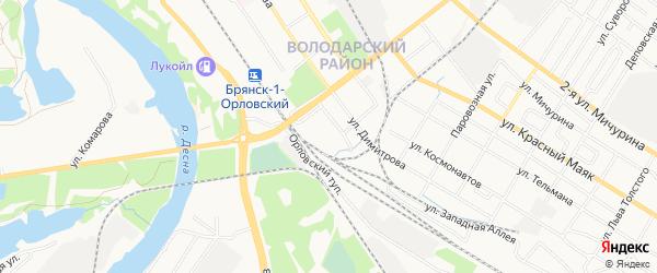 Территория БГ по ул Володарского 5/1 на карте Брянска с номерами домов