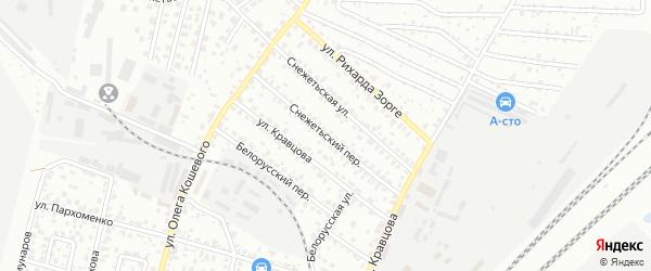 Снежетьский переулок на карте Брянска с номерами домов