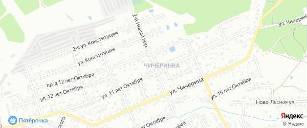 2-й Новый переулок на карте Брянска с номерами домов