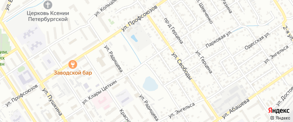 Улица Клары Цеткин на карте Брянска с номерами домов