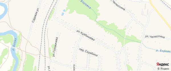 Улица Куйбышева на карте Фокино с номерами домов