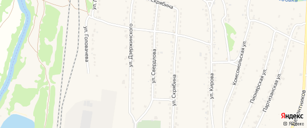 Улица Свердлова на карте Фокино с номерами домов
