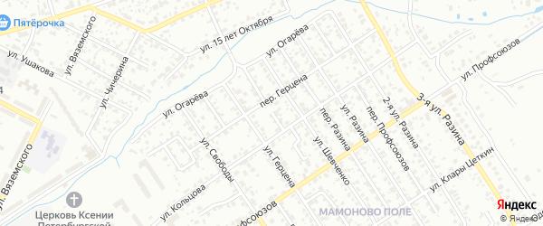 Въезд Кольцова на карте Брянска с номерами домов