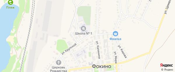 Улица Крупской на карте Фокино с номерами домов