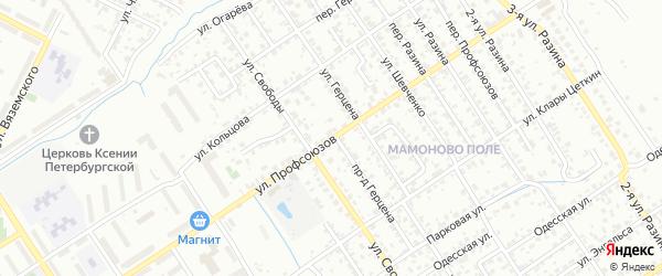 Улица Профсоюзов на карте Брянска с номерами домов