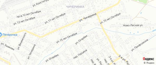 Улица 15 лет Октября на карте Брянска с номерами домов