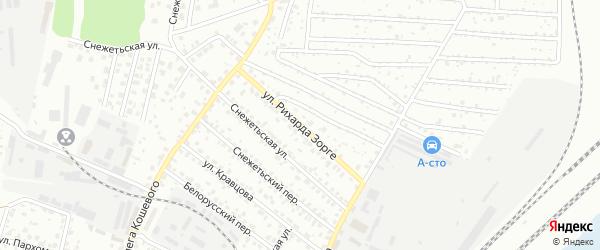 Улица Рихарда Зорге на карте Брянска с номерами домов