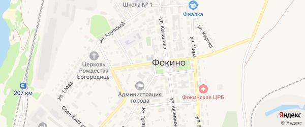 Улица Гайдара на карте Фокино с номерами домов