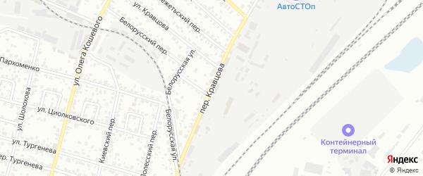 Переулок Кравцова на карте Брянска с номерами домов