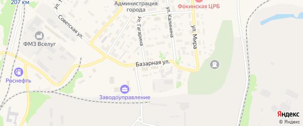 Базарная улица на карте Фокино с номерами домов