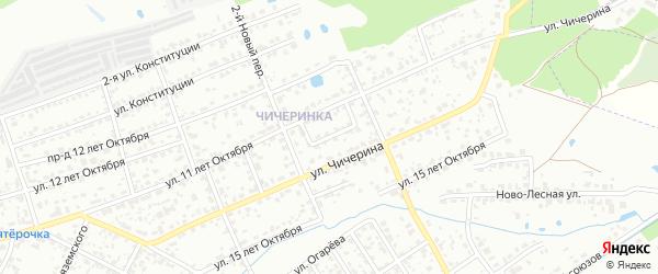 Переулок 11 лет Октября на карте Брянска с номерами домов