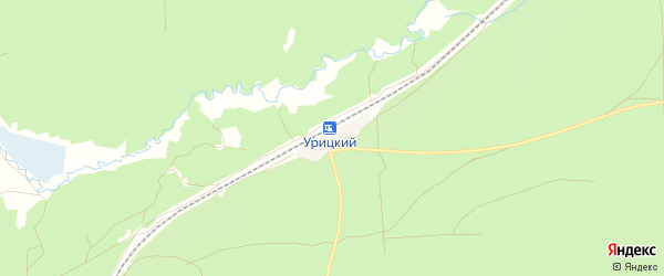 Карта Урицкого железнодорожного разъезда в Брянской области с улицами и номерами домов
