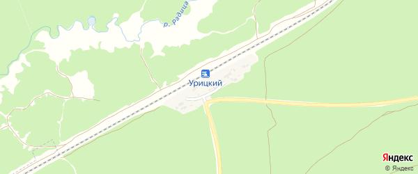 Привокзальная улица на карте Урицкого железнодорожного разъезда с номерами домов