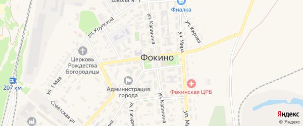Площадь Ленина на карте Фокино с номерами домов
