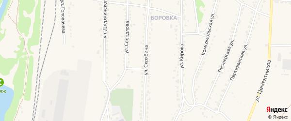 Улица Скрябина на карте Фокино с номерами домов