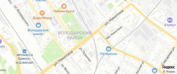 Улица Никитина на карте Брянска с номерами домов