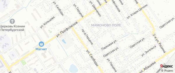 Проезд Герцена на карте Брянска с номерами домов