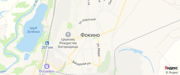 Территория ГСПК ГСК-2 г.Фокино на карте Фокино с номерами домов