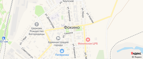 Улица Больничный городок на карте Фокино с номерами домов