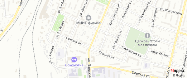 Улица Дзержинского на карте Брянска с номерами домов