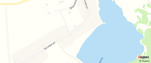 Дорожный переулок на карте деревни Алексеевки с номерами домов