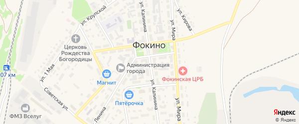 Улица Калинина на карте Фокино с номерами домов