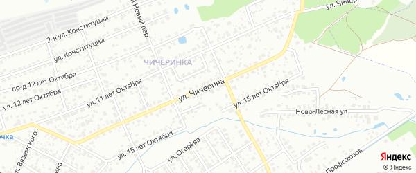 Улица Чичерина на карте Брянска с номерами домов