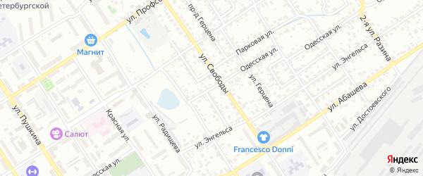 Одесская улица на карте Брянска с номерами домов